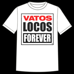 "Manic Hispanic ""Vatos Locos"" White Shirt"