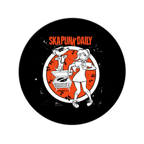 "Ska Punk Daily ""Dance Party"" 1 inch Pin"