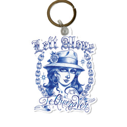 "Left Alone "" Te Quiero Ver"" Key Chain"