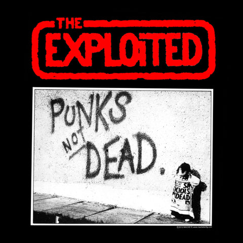 The Exploited Punks Not Dead Back Patch Road Dog Merch