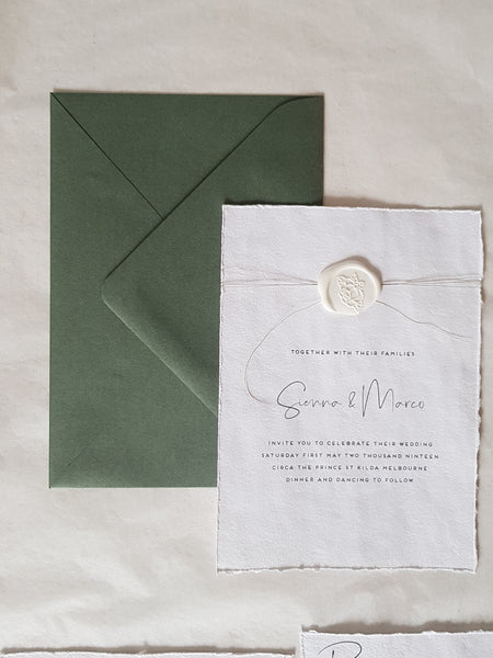 Paper and Style Co.Minimal Luxe green envelope
