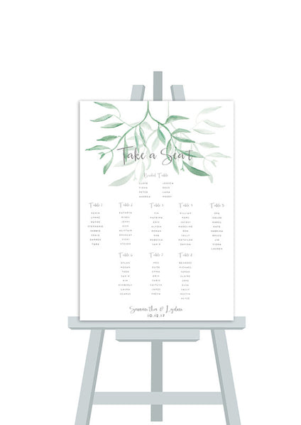 Gum Leaf Seating Chart