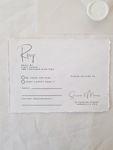 Paper and Style Co. Minimal Luxe Rsvp