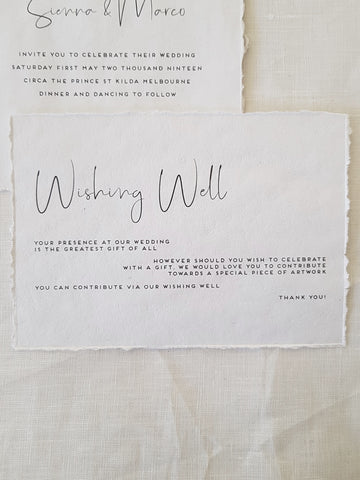 Paper and Style Co. Minimal Luxe wishing well