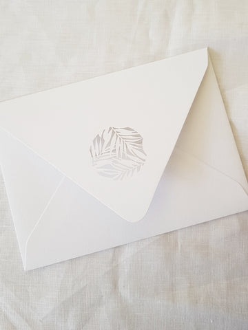 Paper and Style Co. Minimal Luxe leaf envelope