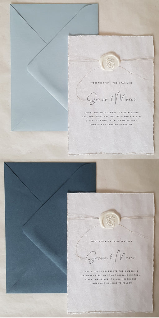 Paper and Style Co. Minimal Luxe envelopes blue