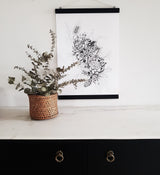 Botanical Bunch No1 art print poster hanger display
