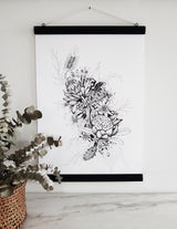 Botanical Bunch No1 ,print with poster hanger