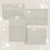 WHITE FLORALS Invite Design