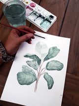 Fiddle Fig Leaf artwork progress image