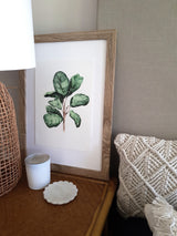 Fiddle Fig Leaf art display in timber frame