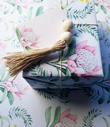 GIFT WRAP/Christmas Wrapping Paper/Waratah and Callistemon