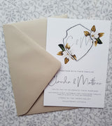 CREST Magnolia Design/Wedding Invitation