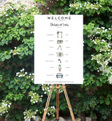 Wedding Signage/TIMELINE/WELCOME (PRINTED or DIGITAL)
