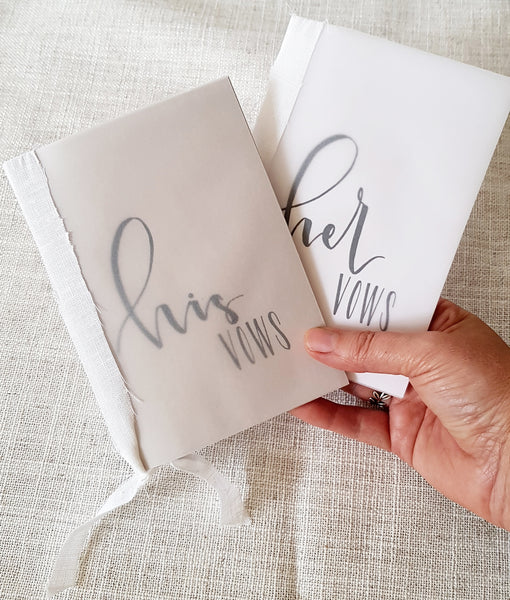 His and Her's Wedding Vows Booklets