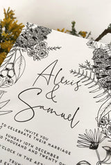 ALEXIS Botanicals Wedding Invite