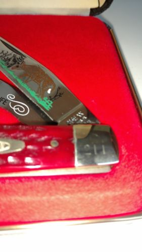 Case Knife - Red Bone Trapper - Tribute to Whitetail Serial Number #211