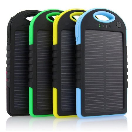 Waterproof Solar Battery Charger - Dual USB