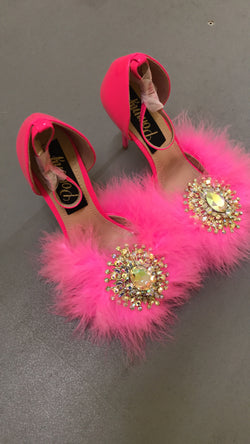 Barbie Pink Crystal Heels