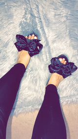 Daphne Crystal Bow Slides
