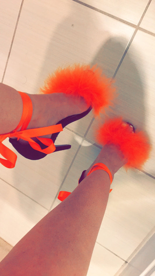 Atlanta Orange Noir Heels