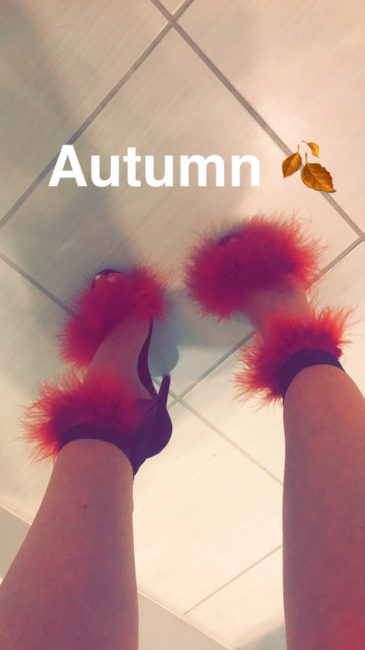 Mulberry Double Feather Heels
