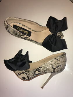 Alluna Bow Snake Stiletto Heels (Limited Edition)
