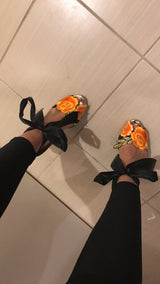 Nialla Embriodered Floral Heels