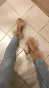 Carvia Nude Double Feather Heels