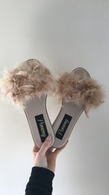 Champagne Feather Slides