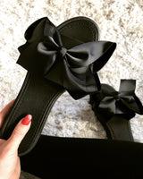 Black Bow Slides