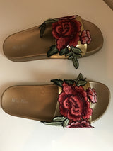 Marisol Paradise Embrodered Slides