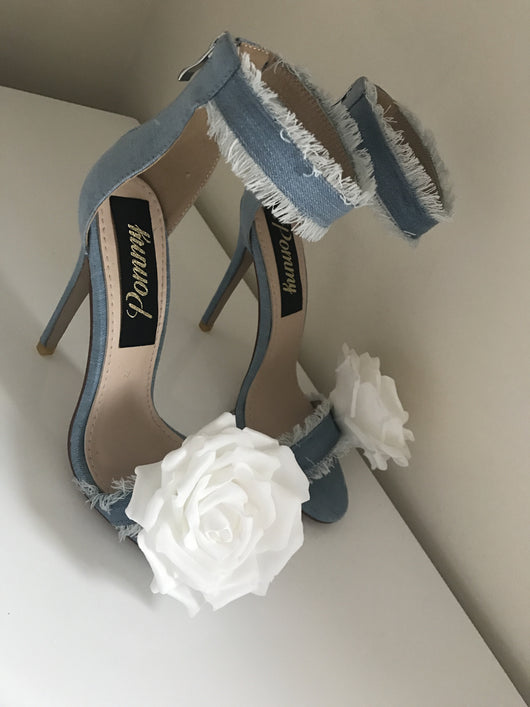 Kimmy Denim Rose Heels