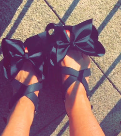 Kourtney Black Bow Wedges