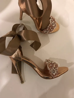 Amella Rose Gold Crystal Heels