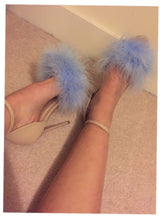 Bambi Nude Feather Heels