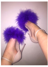 Luisana Purple Feather Heels