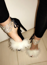 Creme Dream Crystal Heels