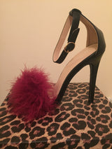 Mulberry Fluffy Heels