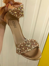 Rose Gold Crystal Heels