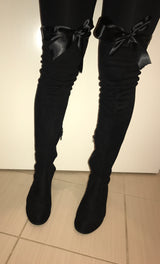 SAMPLE Minxy Flat Thigh High Boots