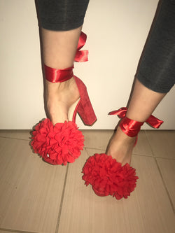 Block Enigma Red Heels
