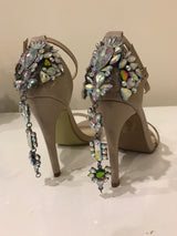 SAMPLE Crystal Back Nude Heels