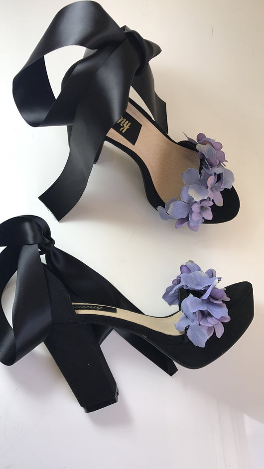 Poison Lilac Floral Block Heels