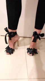 Black Widow Lace Nude Heels