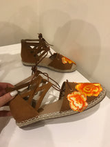Lataya Tan Embroidered Espadrilles