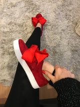 SAMPLE Emmy Lou Red Bow Sneakers