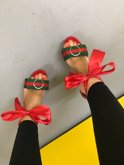 GBee Red Block Heels