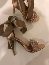 SAMPLE Amella Rose Gold Crystal Heels