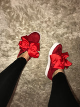 Emmy Lou Red Bow Sneakers